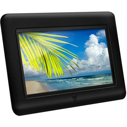 Aluratek 7 Digital Picture Frame With Auto ADPF07SF BH