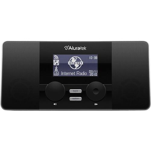 aluratek airmm02f internet radio alarm clock airmm02f b h. Black Bedroom Furniture Sets. Home Design Ideas