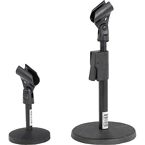 amplivox sound systems s1075 desk microphone stand s1075 b h rh bhphotovideo com microphone desk stand amazon vintage microphone desk stand