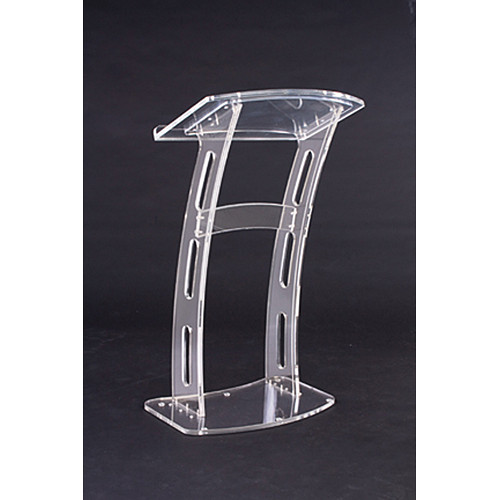 Amplivox sound systems sn curved rail acrylic lectern