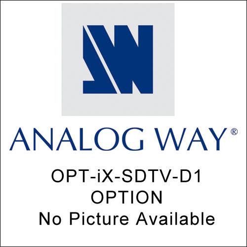 Analog Way OPT-IX-SDTV-D1 Optional Video Output OPT-IX-SDTV-D1