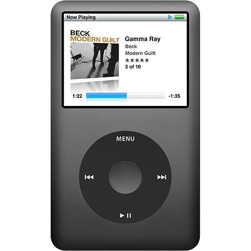 apple ipod classic 120gb black mb565ll a b h photo video rh bhphotovideo com apple ipod classic 160gb instruction manual iPod 30GB Battery Replacement