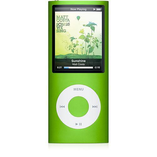 apple ipod nano 4th gen 8gb green mb745ll a b h photo video. Black Bedroom Furniture Sets. Home Design Ideas