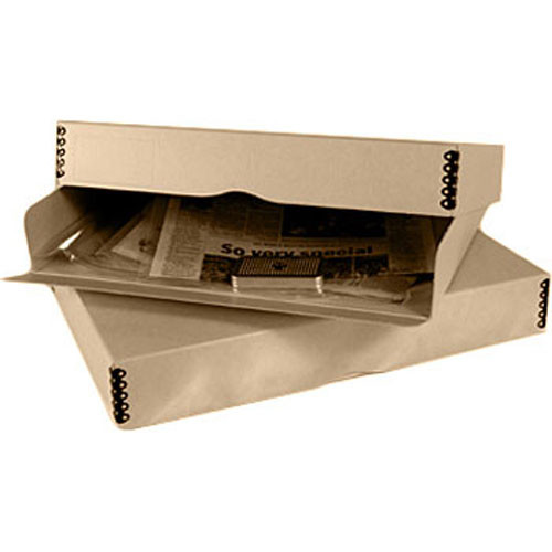 Archival Methods 20x24  Drop Front Drop Front Storage Box (Broadsheet Flat Newspaper Kit   sc 1 st  Bu0026H & Archival Methods 20x24