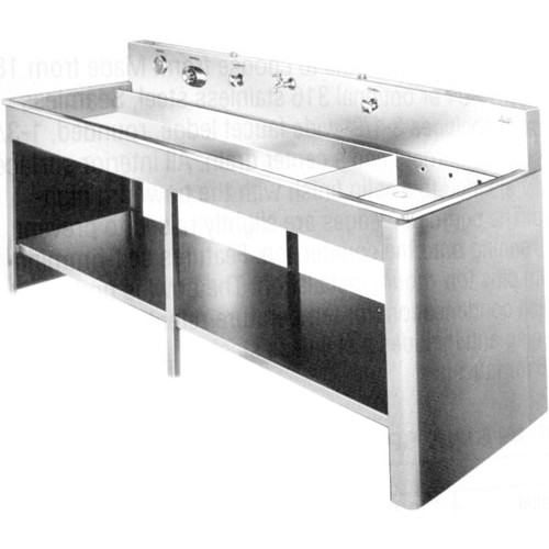 Merveilleux Arkay 2 Compartment Stainless Steel Tray Processing Sink