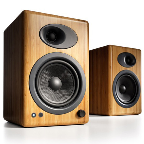 Audioengine A5 5 Active 2 Way Speakers Pair Bamboo