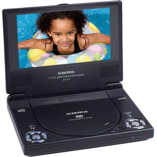 audiovox d1718 7 16 9 portable dvd player package d1718pk. Black Bedroom Furniture Sets. Home Design Ideas