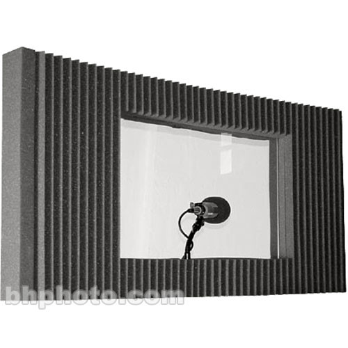 Auralex max wall window kit charcoal gray single for 18 x 48 window