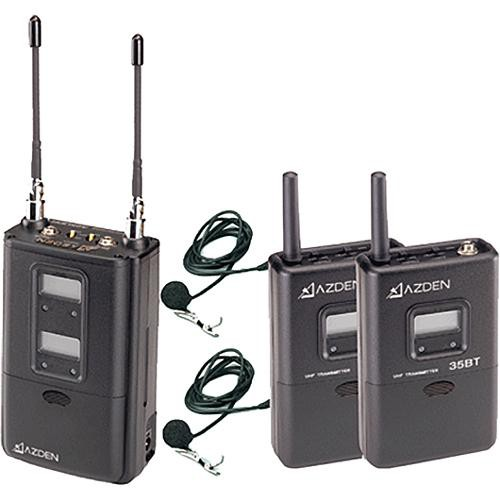azden 325ult dual channel portable wireless microphone system. Black Bedroom Furniture Sets. Home Design Ideas