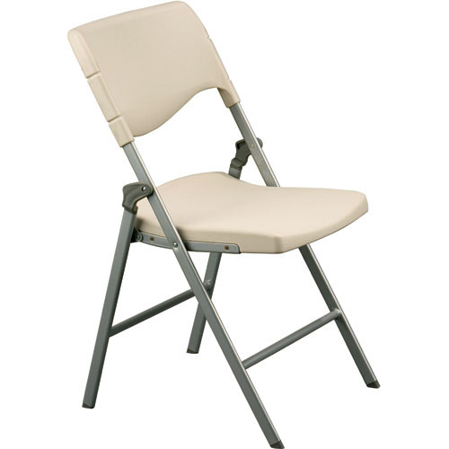 Balt Blow Mold Folding Chair Model Ivory B&H