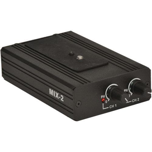 beachtek mix 2 passive 2 channel audio mixer for cameras mix 2. Black Bedroom Furniture Sets. Home Design Ideas