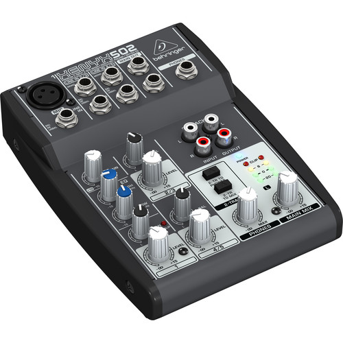 behringer xenyx 502 5 channel compact audio mixer 502 b h photo. Black Bedroom Furniture Sets. Home Design Ideas