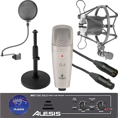 behringer c1 condenser mic and tube preamp essentials kit b h. Black Bedroom Furniture Sets. Home Design Ideas