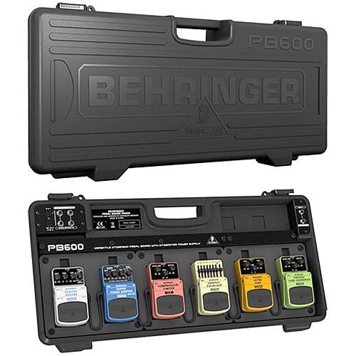 behringer pb600 universal effects pedalboard with 9v power pb600. Black Bedroom Furniture Sets. Home Design Ideas