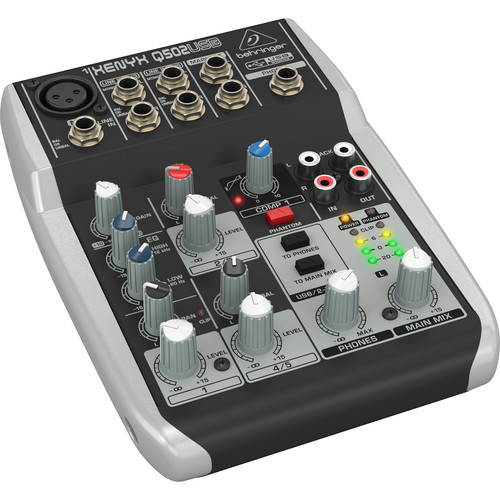 behringer xenyx q502usb 5 channel usb mixer q502usb b h photo. Black Bedroom Furniture Sets. Home Design Ideas