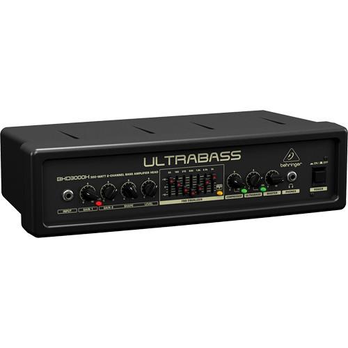 behringer ultrabass bxd3000h bass amplifier head bxd3000h b h