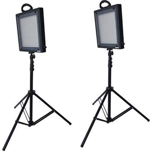 Bescor LED-500K 2 Light Studio Lighting Kit (100-240VAC