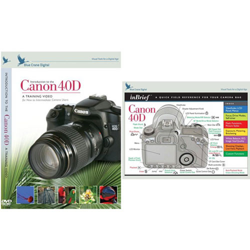blue crane digital dvd and guide combo pack for the canon bc614 rh bhphotovideo com canon eos 40d guide canon 40d pocket guide pdf