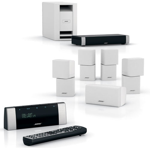bose lifestyle v20 home theater system white 42573 b h photo. Black Bedroom Furniture Sets. Home Design Ideas