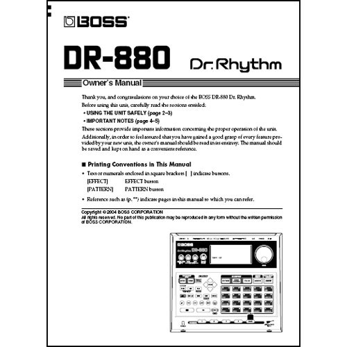 boss dvd owner s manual for the boss dr 880 rhythm dr 880dvm rh bhphotovideo com bose owners manual boss owners manual download