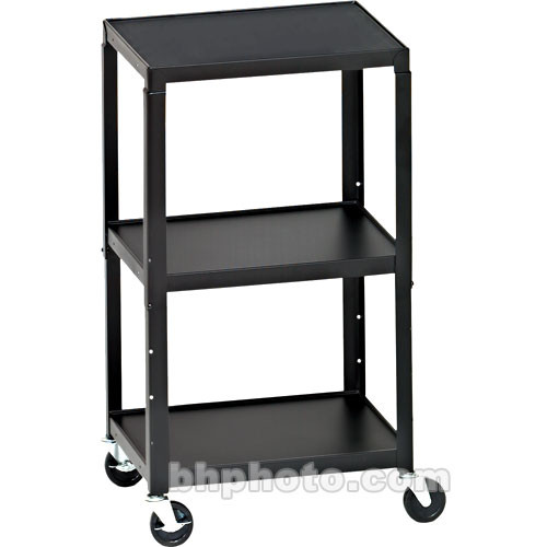Bretford adjustable av cart with 3 shelves and 2 outlet a2642e bretford adjustable av cart with 3 shelves and 2 outlet electrical unit black sciox Gallery