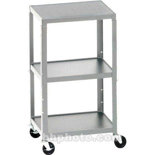 bretford adjustable av cart with 3 shelves and 2outlet electrical unit quartz - Av Cart