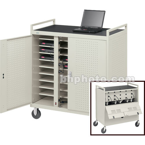 Bretford Laptop Computer Storage Cart for 30 Units [FULLY ASSEMBLED]  sc 1 st  Bu0026H & Bretford Laptop Computer Storage Cart for 30 Units LAP30EBA-GM