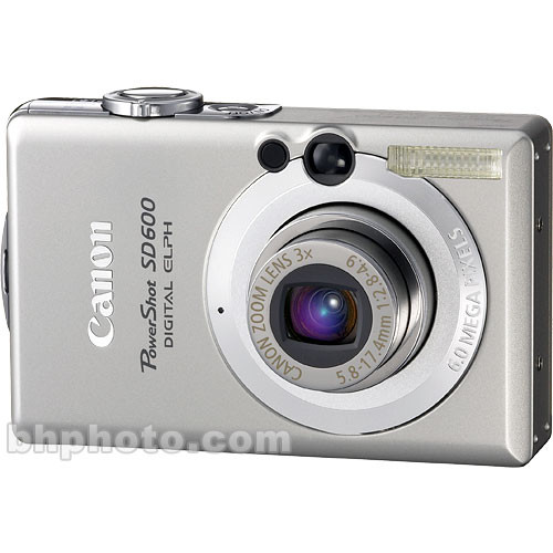 canon powershot sd600 digital elph digital camera 1079b001 b h rh bhphotovideo com Canon Rebel XT Canon Rebel XT