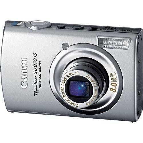 Canon Shot Sd870 Is Digital Elph Camera Silver