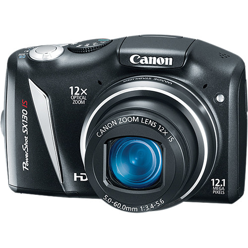 canon powershot sx130 is digital camera black 4345b001 b h rh bhphotovideo com Canon PowerShot Digital Camera Canon PowerShot Digital Camera