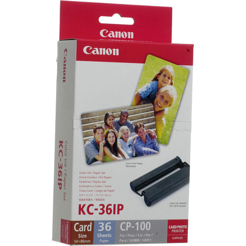 canon kc 36ip color ink paper set card size paper 36 - Canon Selphy Color Ink Paper Set
