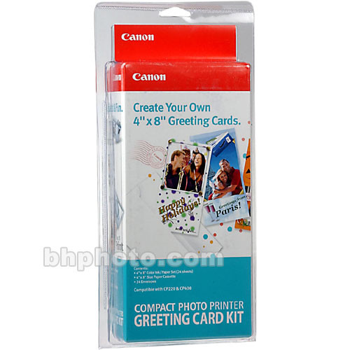 Canon greeting card kit 9401a002 bh photo video canon greeting card kit 4x8 24 paper envelopes m4hsunfo