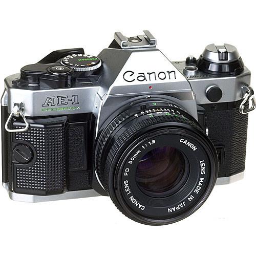 used canon ae 1 program 35mm slr manual focus camera chrome rh bhphotovideo com 35mm slr manual focus camera Pentax K1000 SLR Camera Manual