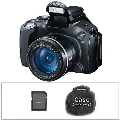 canon powershot sx40 hs digital camera with basic accessory kit