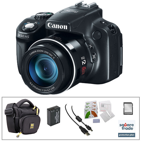 canon powershot sx50 hs digital camera with deluxe accessory kit. Black Bedroom Furniture Sets. Home Design Ideas