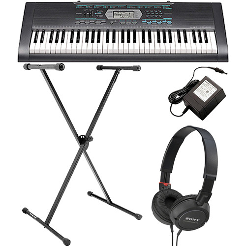 casio ctk 2100 61 key portable keyboard value bundle b h photo. Black Bedroom Furniture Sets. Home Design Ideas