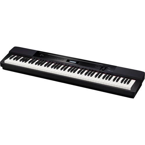 casio px 350 privia 88 key digital piano black px 350 b h. Black Bedroom Furniture Sets. Home Design Ideas