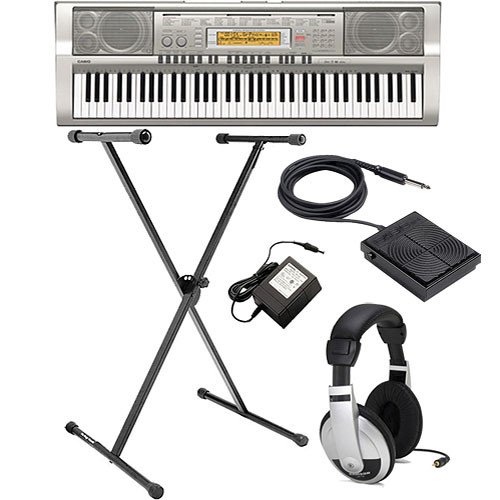 casio wk 200 76 key portable keyboard value bundle b h photo. Black Bedroom Furniture Sets. Home Design Ideas
