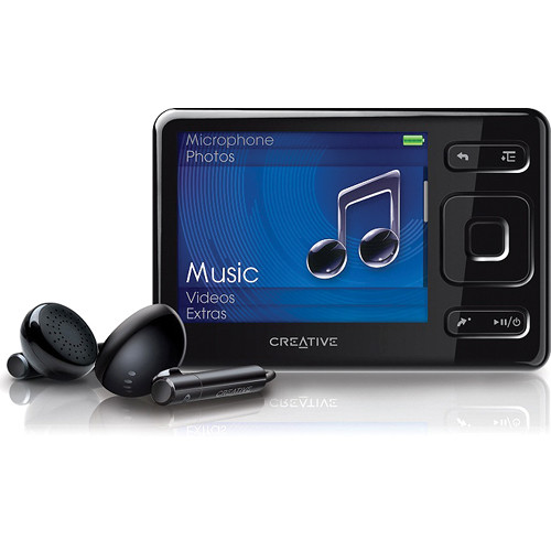 creative labs zen mx mp3 player  16gb  black