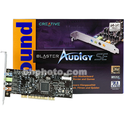 Creative labs sound blaster audigy se pci sound 70sb057000000.