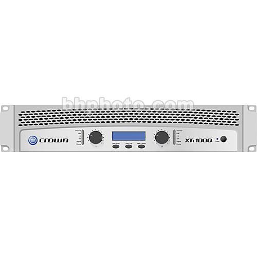 Crown Xti 1000 : crown audio xti 1000 stereo power amplifier with dsp xti1000 b h ~ Russianpoet.info Haus und Dekorationen