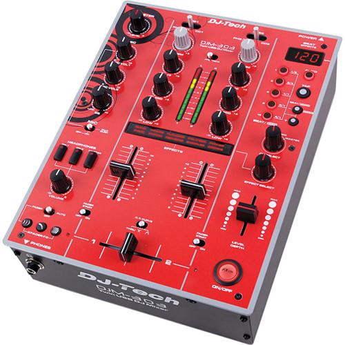 dj tech djm 303 twin usb dj mixer red djm303rededition b h. Black Bedroom Furniture Sets. Home Design Ideas