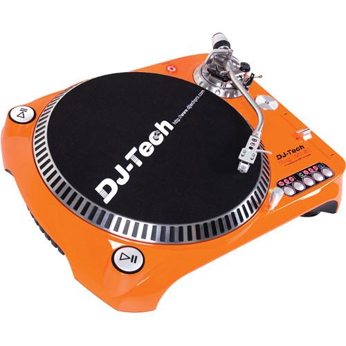 DJ Tech SL 1300 MK6 Quartz Drive DJ Turntable (Orange)