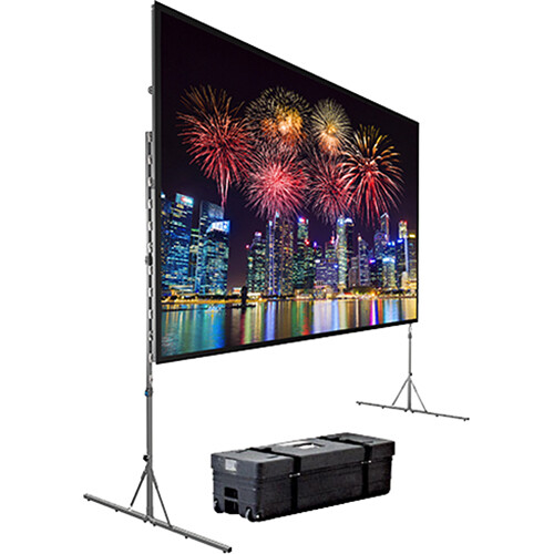 dalite fastfold deluxe portable projection screen 8 x 14u0027