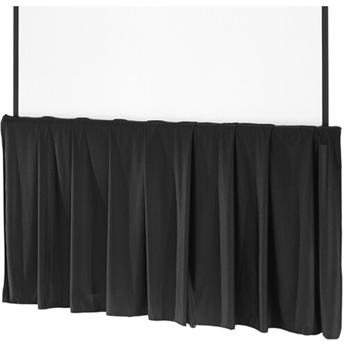 dalite black tripod skirt for 84in projection screens - Projection Screens