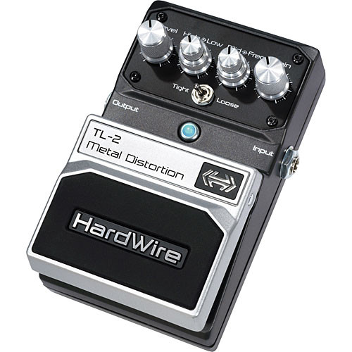 digitech tl 2 hardwire metal distortion stompbox pedal tl 2 b h. Black Bedroom Furniture Sets. Home Design Ideas
