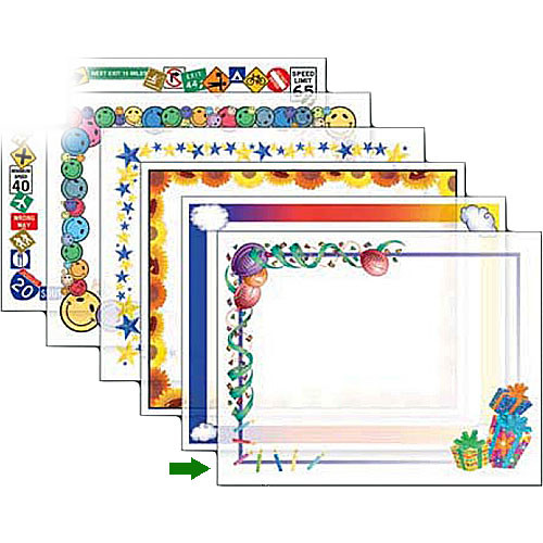 Dry Lam Pizzazz Decorative Laminating Pouches - Birthday D9F201