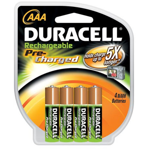 Duracell AAA NiMH PreCharged Batteries (2000 maH, 4 Pack) B&H