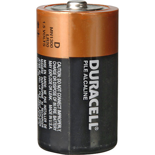 duracell d 1 5v alkaline coppertop battery 2 pack mn1300b2 b h. Black Bedroom Furniture Sets. Home Design Ideas