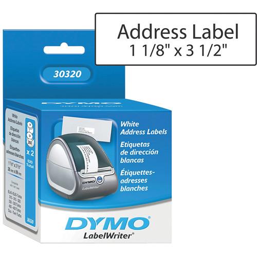 dymo labelwriter address labels white 1 1 8 x 3 1 2